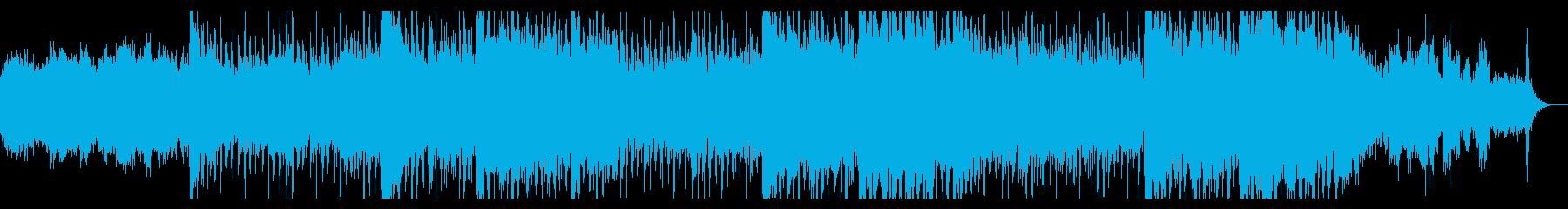ダークなシネマティックテクスチャの再生済みの波形