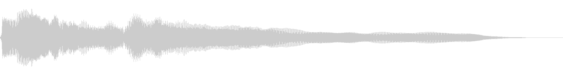 浮遊感のあるギターの未再生の波形