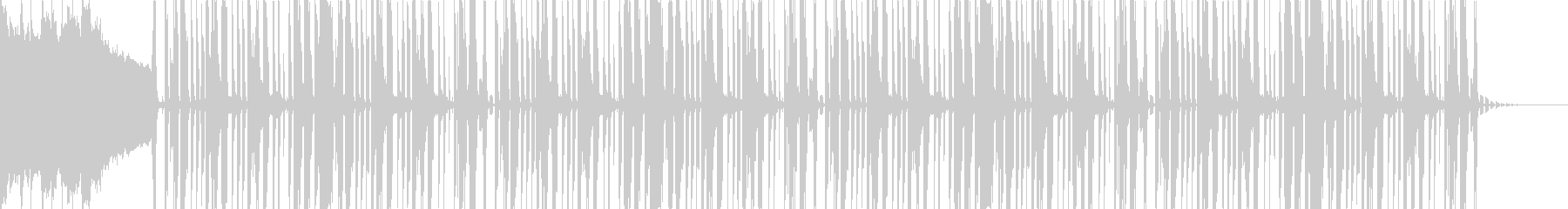 「鍵」がテーマのミステリアスなファンクの未再生の波形