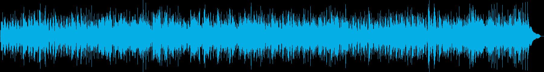軽快なカントリー風BGMの再生済みの波形