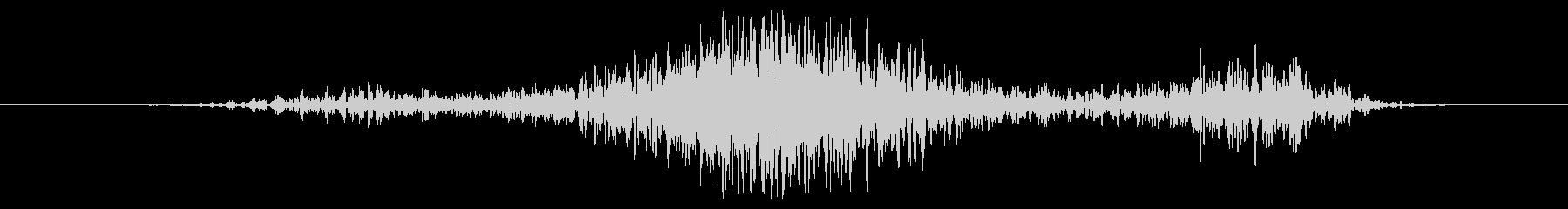 流星ウーッシュバーストの未再生の波形