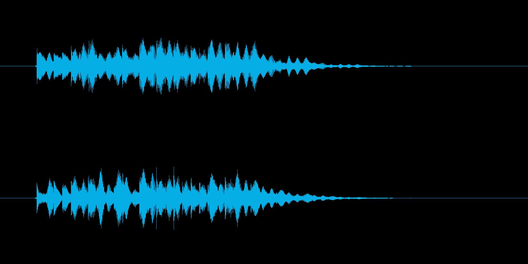 幻想的で落ち着いたリラクゼーション音楽の再生済みの波形