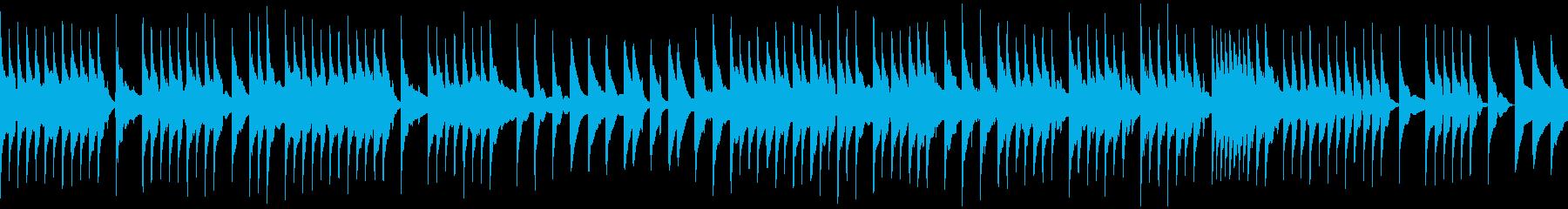 優しいメロディのBGMの再生済みの波形