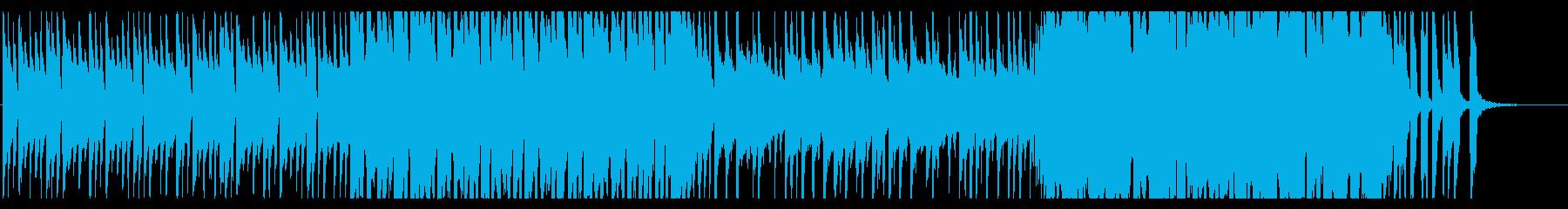 アコースティッックで楽しい雰囲気のBGMの再生済みの波形