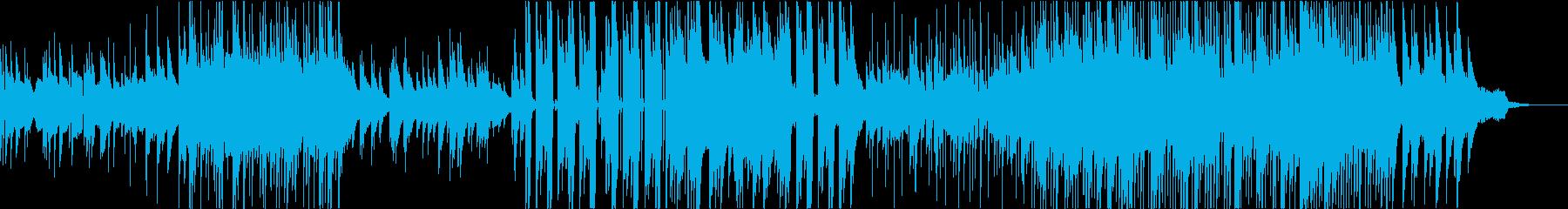 ピアノとバイオリンの優しいエンディングの再生済みの波形