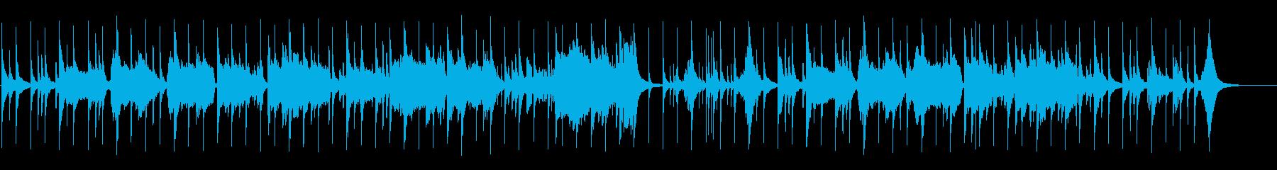 箏と尺八の純和風曲の再生済みの波形