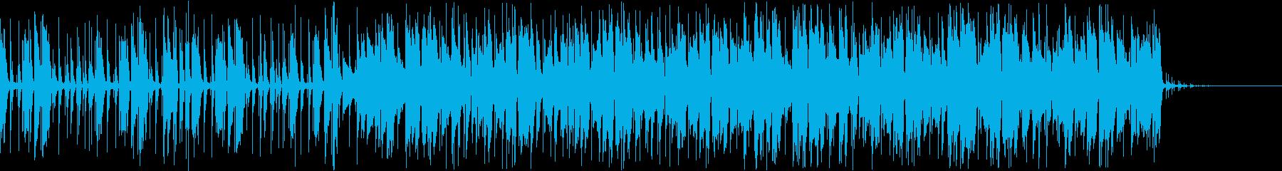 グルーヴ感のあるピアノハウスジングルの再生済みの波形