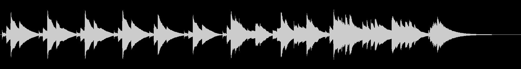 眠くなるオルゴールのBGM(約1分)の未再生の波形