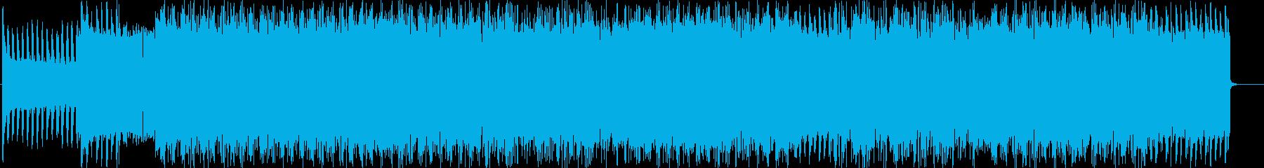 バトルシーンに使うような激しいBGMの再生済みの波形