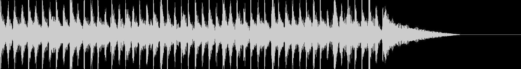 15秒CM、コミカルな動き、シュール映像の未再生の波形