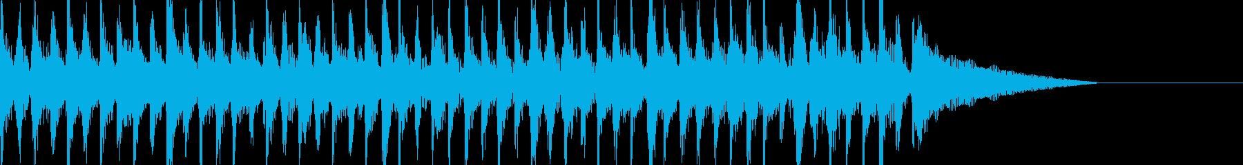 15秒CM、コミカルな動き、シュール映像の再生済みの波形