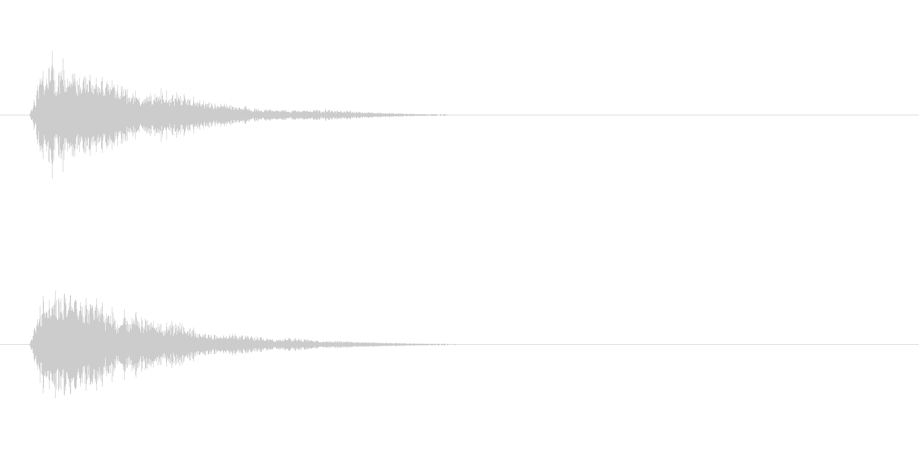 落ち着いた操作系決定音の未再生の波形