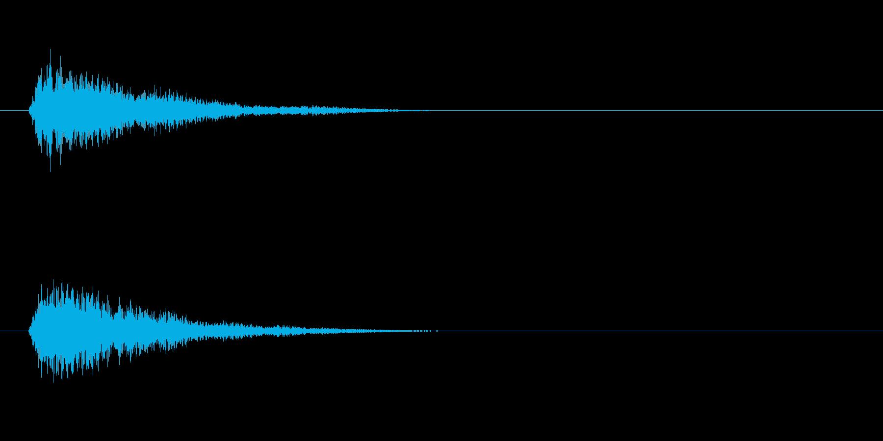 落ち着いた操作系決定音の再生済みの波形