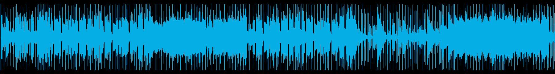 おしゃれなギターロック曲の再生済みの波形