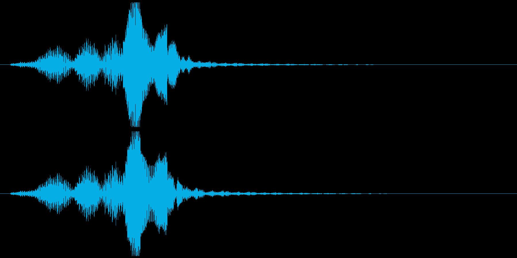 クールなタイトルコールの再生済みの波形
