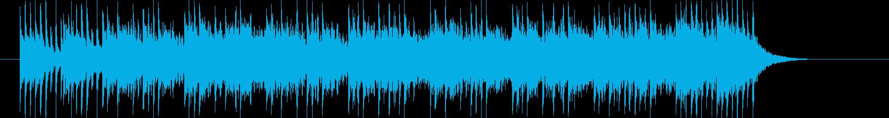 近未来的で疾走感のあるポップなジングル曲の再生済みの波形