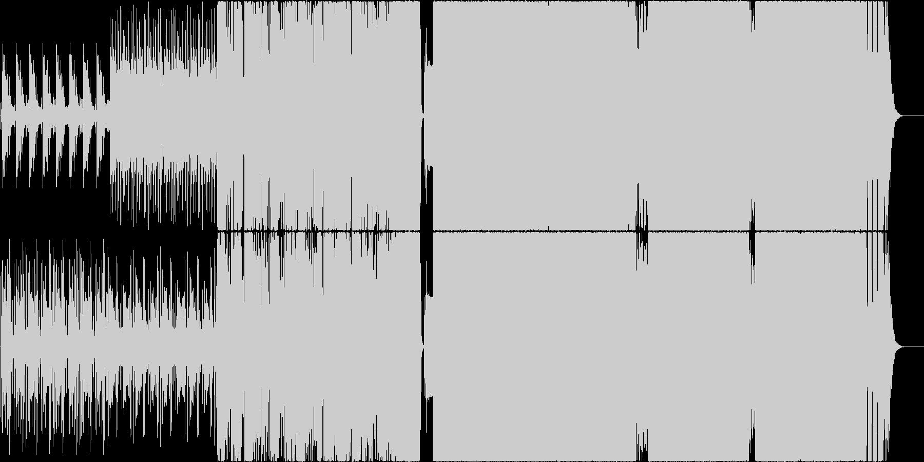 和風をテーマにしたROCK EDMの未再生の波形