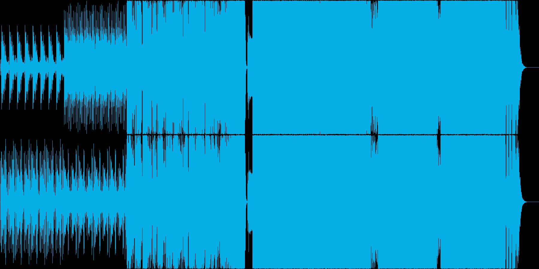 和風をテーマにしたROCK EDMの再生済みの波形