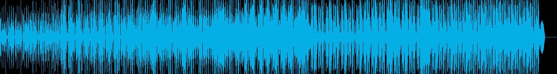 近未来的テクノポップスの再生済みの波形