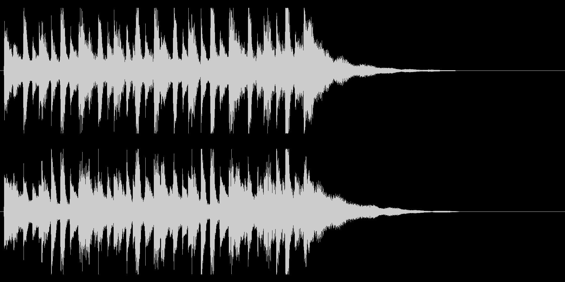 オープニングジングル ピアノで爽やか感動の未再生の波形