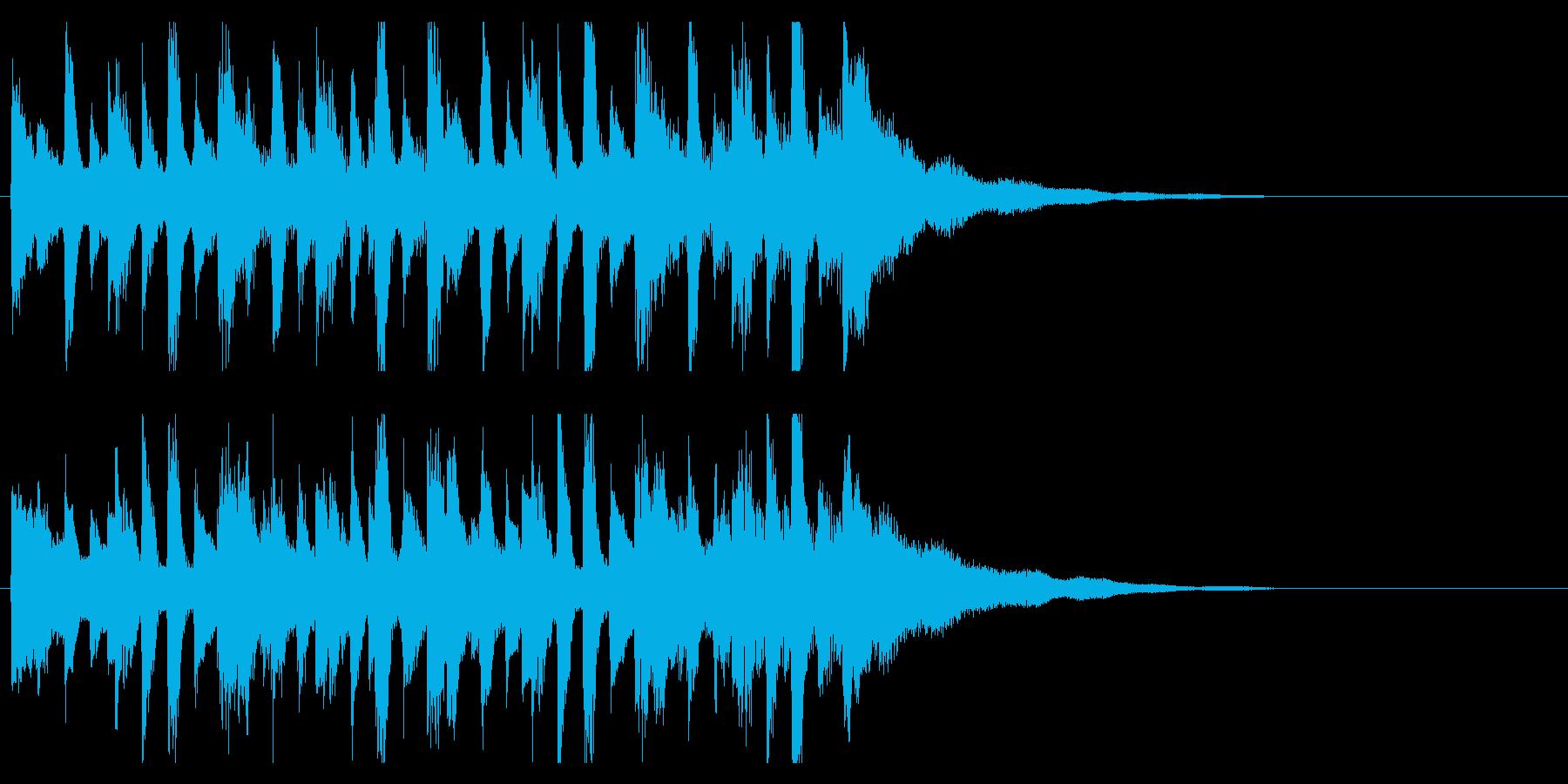 オープニングジングル ピアノで爽やか感動の再生済みの波形