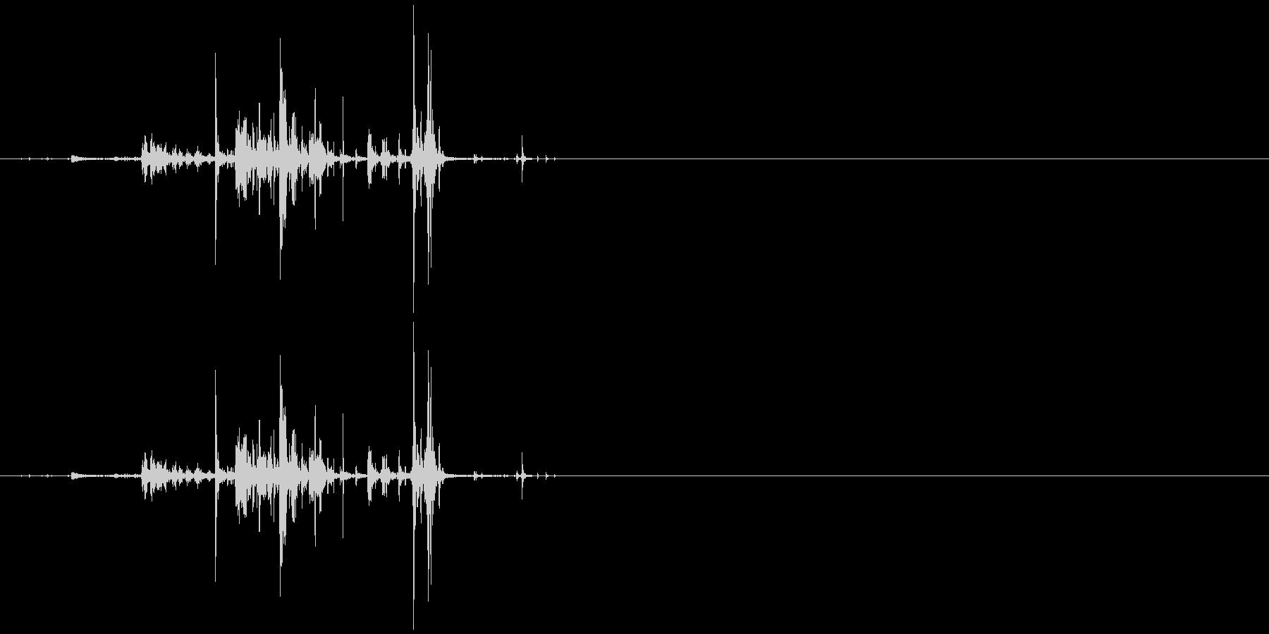 モンスターの口が開くような音4の未再生の波形