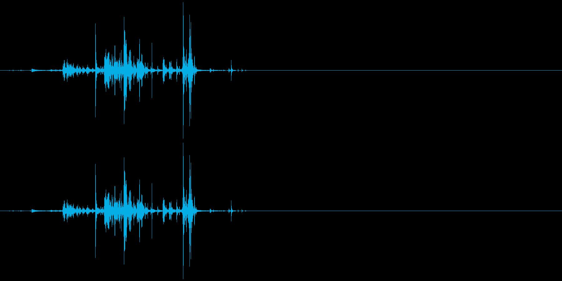 モンスターの口が開くような音4の再生済みの波形