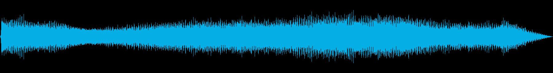 ミンミン(セミの鳴き声)の再生済みの波形
