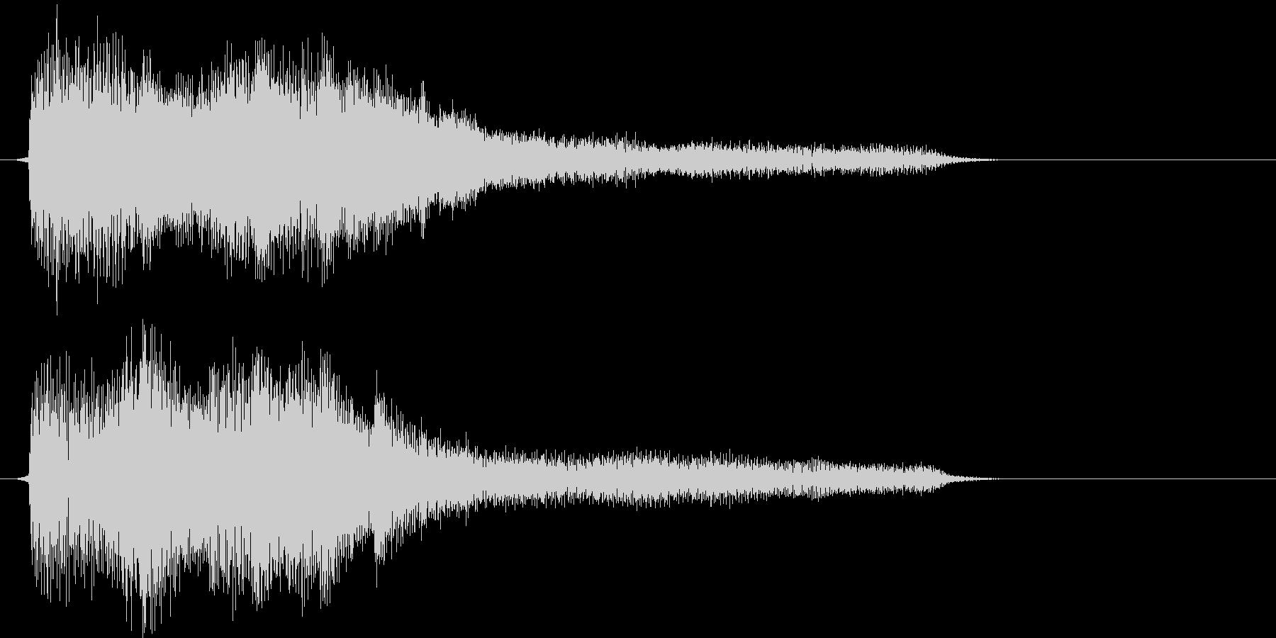 短いピアノメインの駆け上がりジングルの未再生の波形