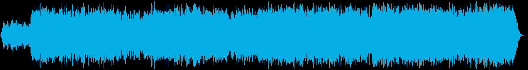 ヨガ、快眠等に適したドローンアンビエントの再生済みの波形