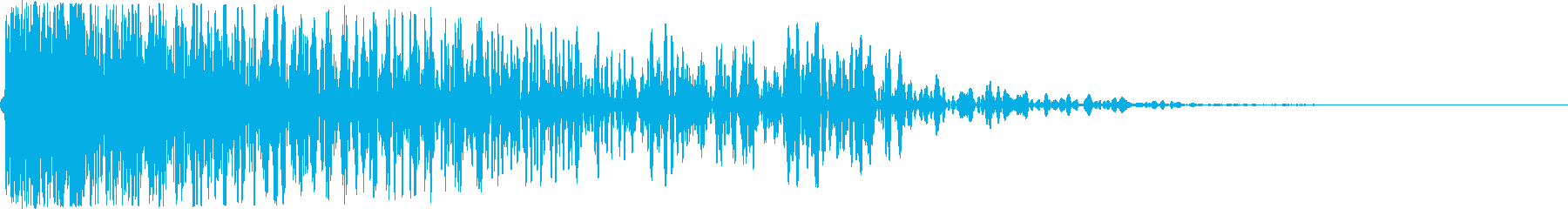 大砲(アニメ風_ズドン)の再生済みの波形