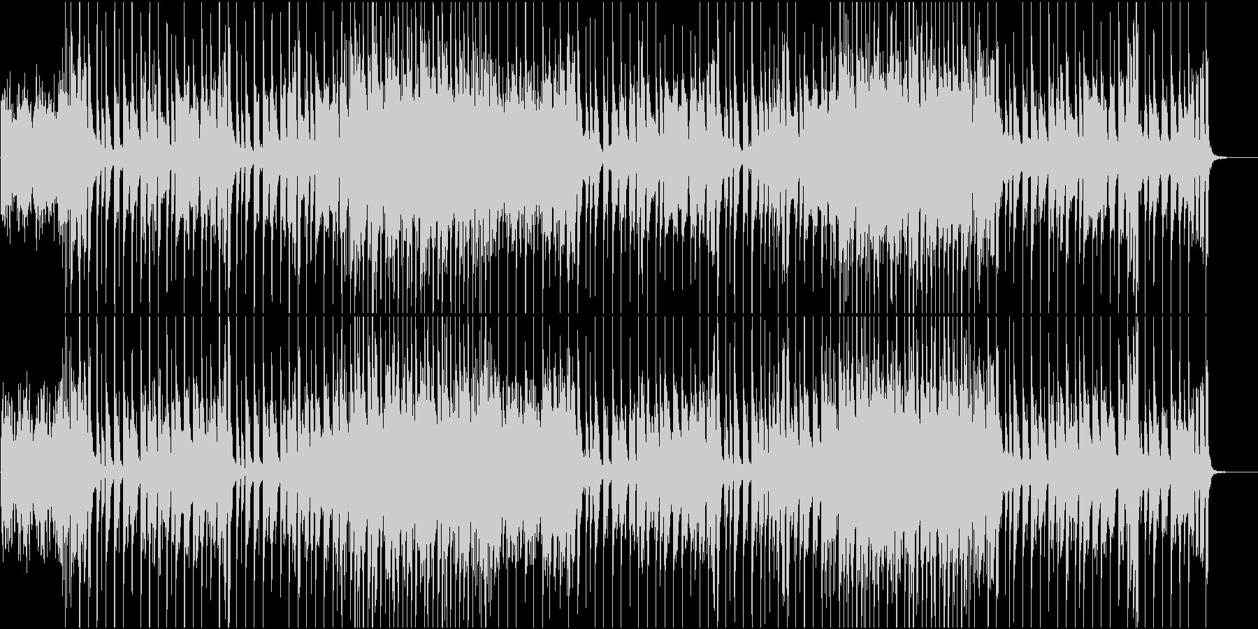 ユーモラス、コミカル系クリスマスBGMの未再生の波形