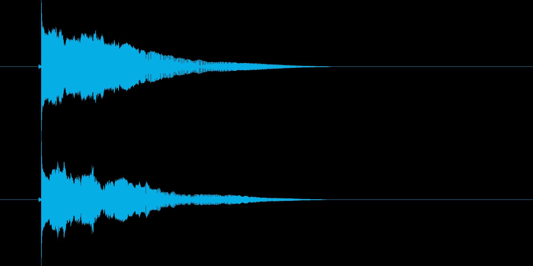 ポウーーン(落下音)の再生済みの波形