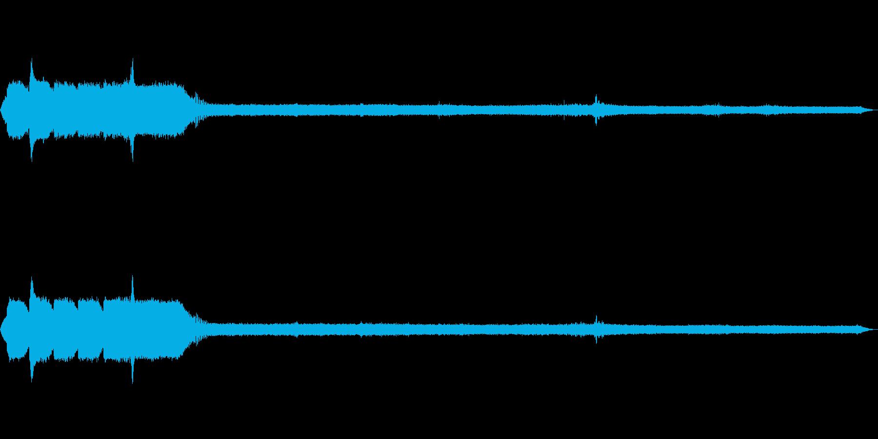 [ASMR]昆虫などが鳴いている森_04の再生済みの波形