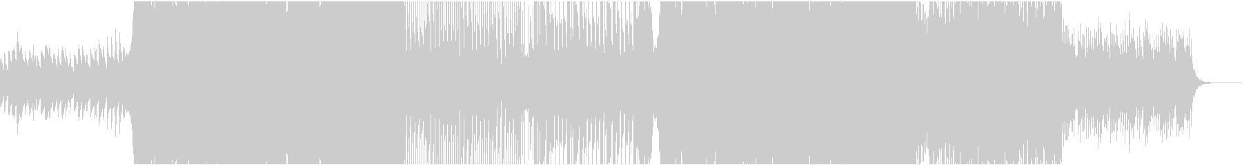 和風のポップなハウス曲(メインメロなし)の未再生の波形