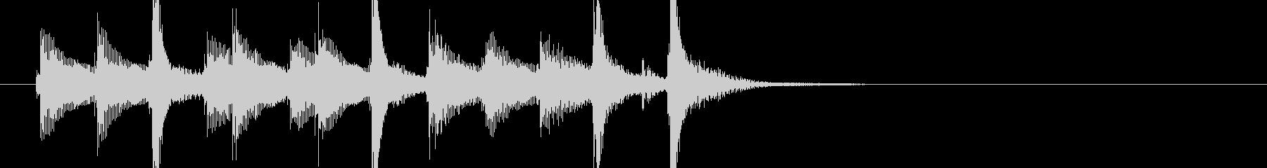 三味線103ロックっぽいリフ生音歌舞伎和の未再生の波形