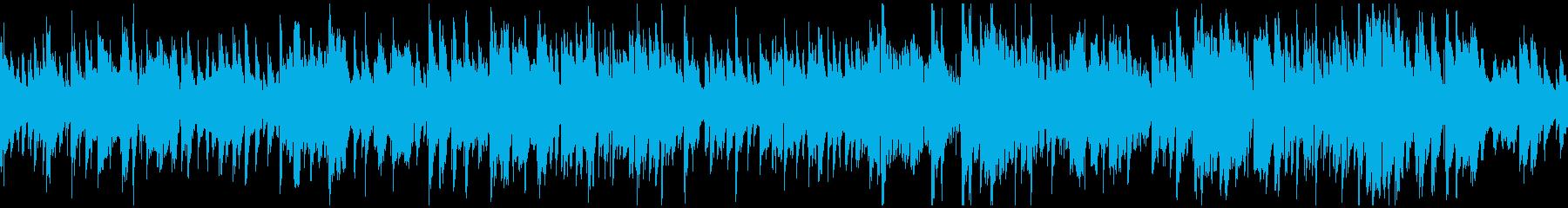 ジャズ、大人、程よいテンポ ※ループ版の再生済みの波形