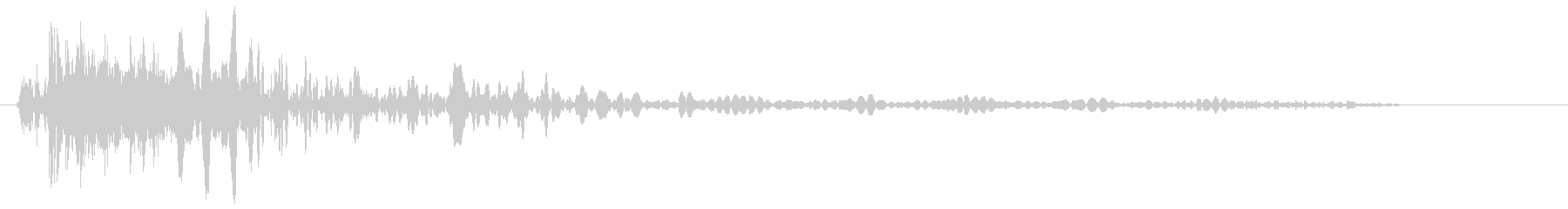 カンッ (響きのある設置音)の未再生の波形