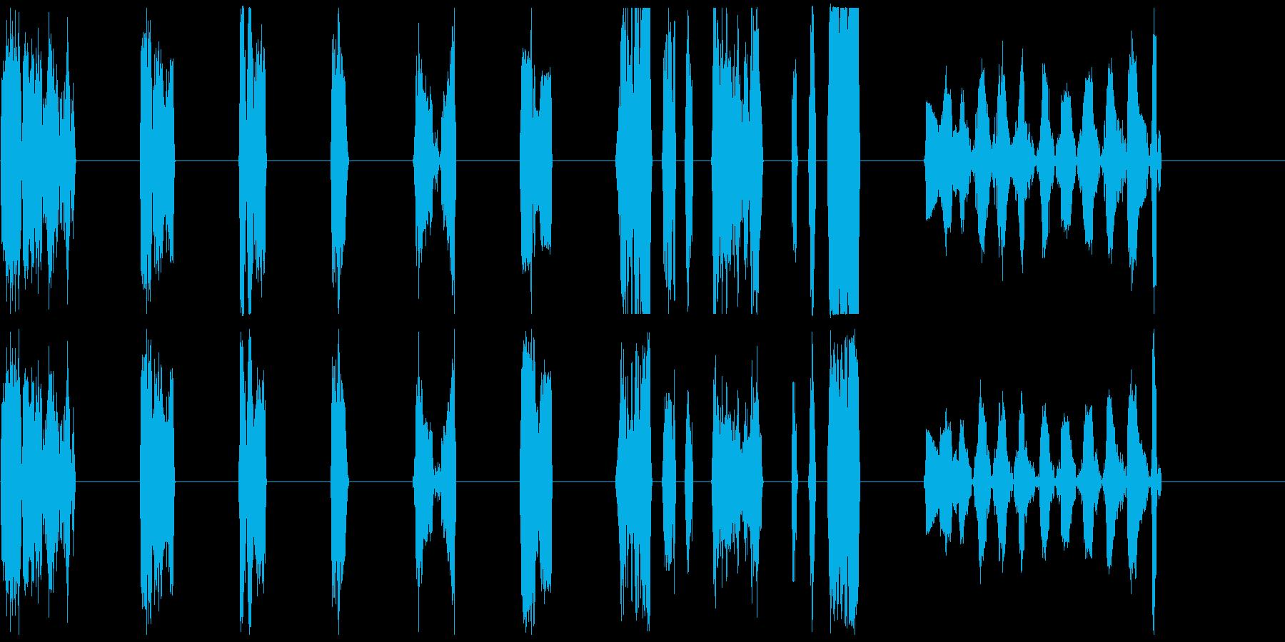 純粋なビニール8-16の再生済みの波形