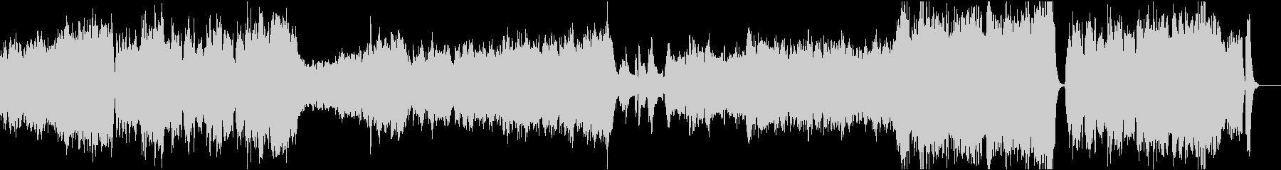 ゲームのオープニングや映像用オーケストラの未再生の波形