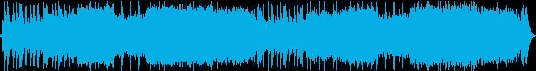 緊迫感のある戦闘曲の再生済みの波形