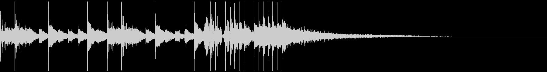 ドラムのジングル、サウンドロゴの未再生の波形