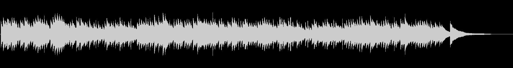 癒しアンビエント睡眠ヒーリングピアノ1分の未再生の波形