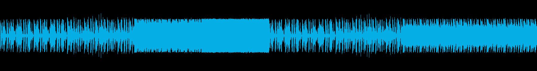 ドラムがきいたポップ調の再生済みの波形