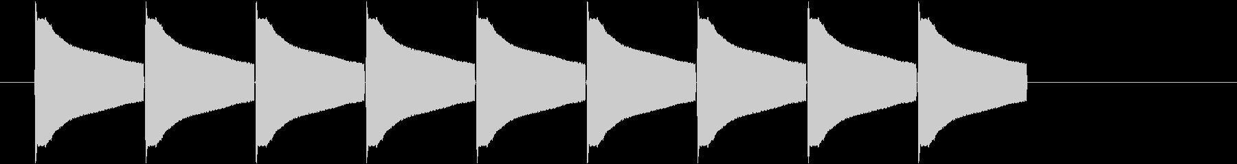 カードアオープンチャイム;電子警告...の未再生の波形