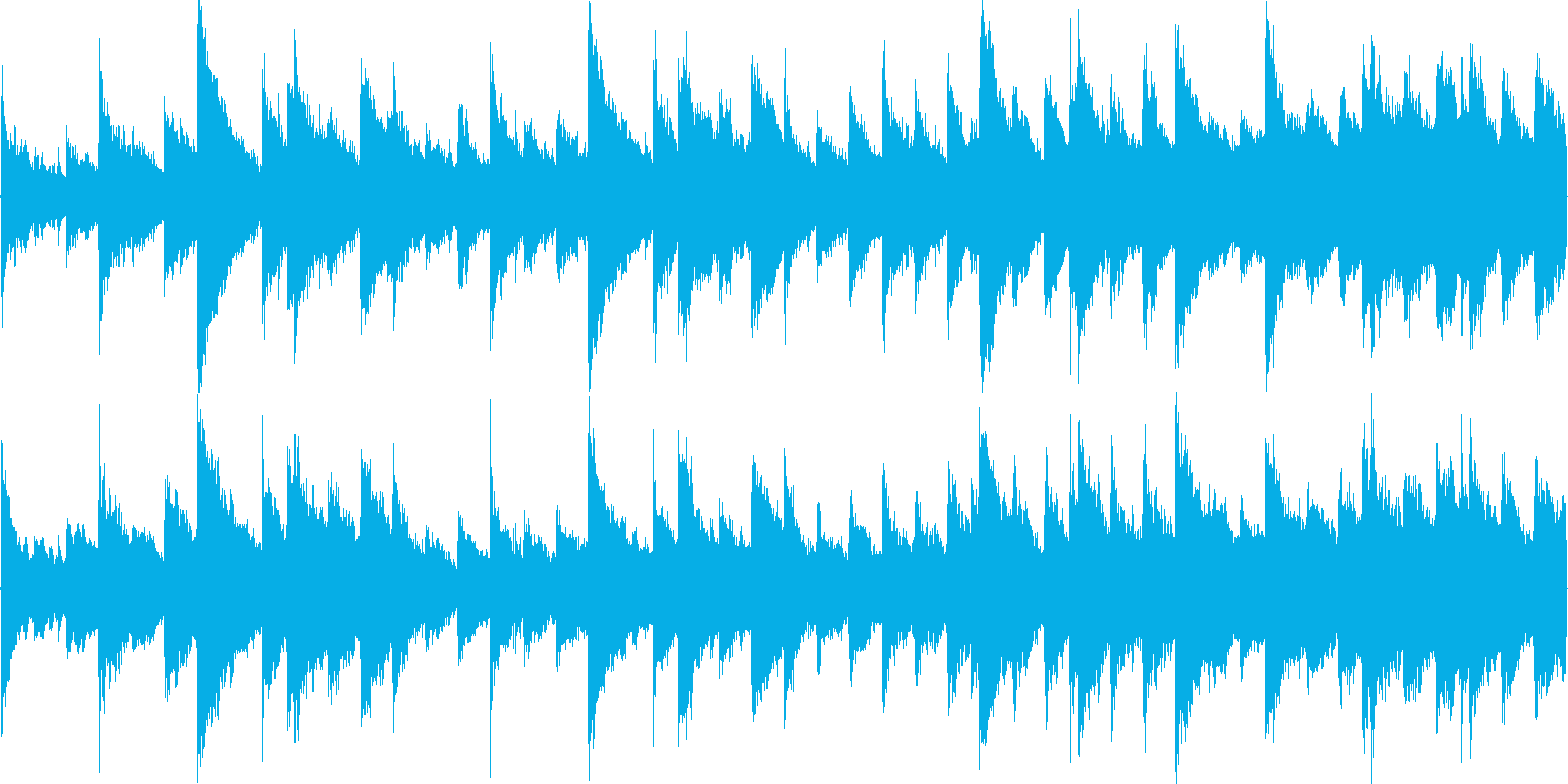 ピアノと金物系リズムのみのシンプルな構…の再生済みの波形