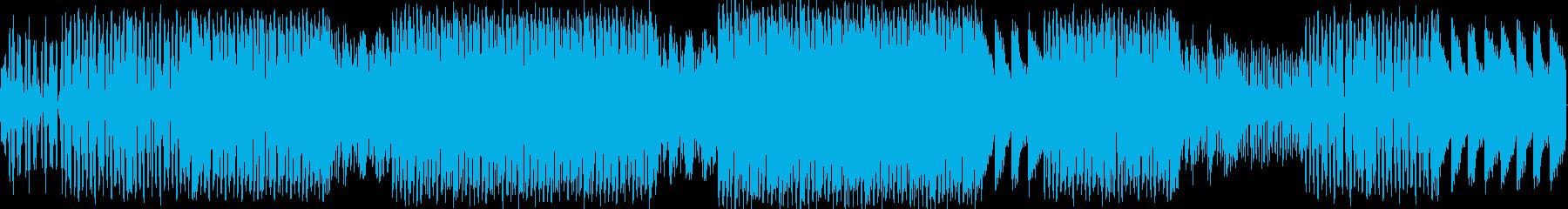 エレクトロハウス。ランニング。繰り...の再生済みの波形
