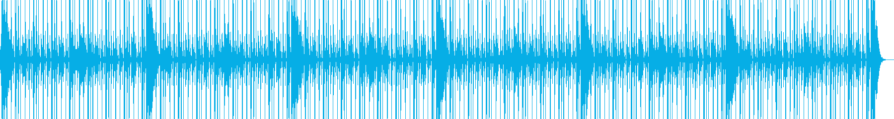 動画向け少し跳ねるドラムソロ8ビートの再生済みの波形