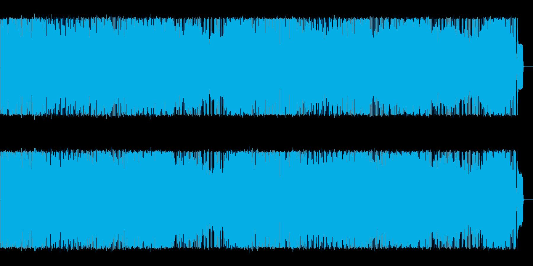 エネルギッシュな三味線とギターのメロディの再生済みの波形