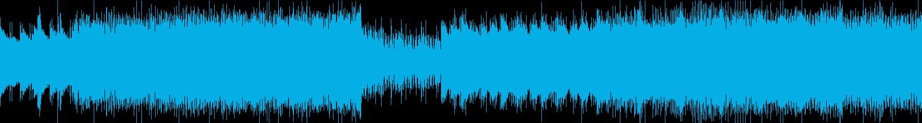 ロールプレイングゲーム風バトルBGMの再生済みの波形